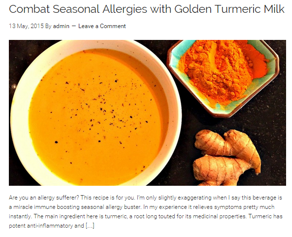 turmeric for allergy