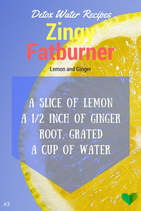 lemonade detox with ginger