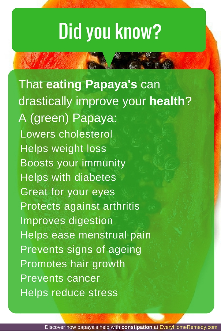 which papaya has more papain? The green papaya does!