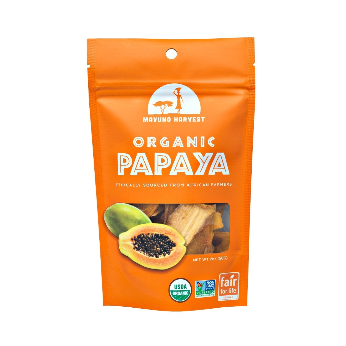 unsulfured papaya