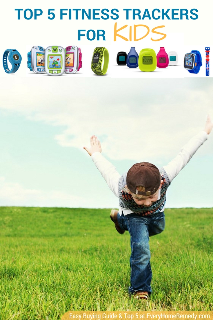 Boy counting steps with children pedometer