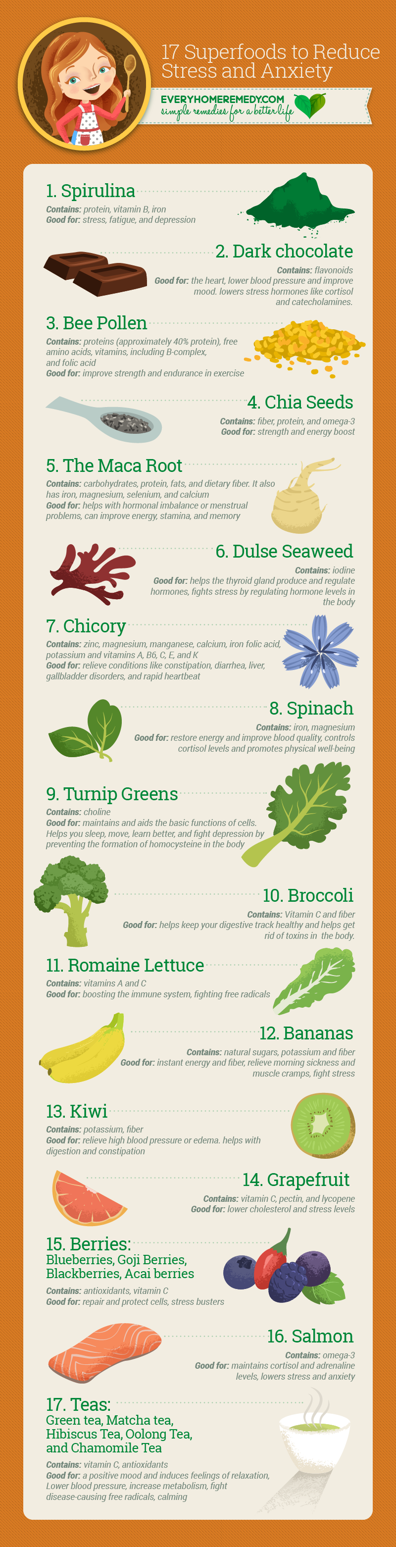 17 superfoods to reduce stress and anxiety |