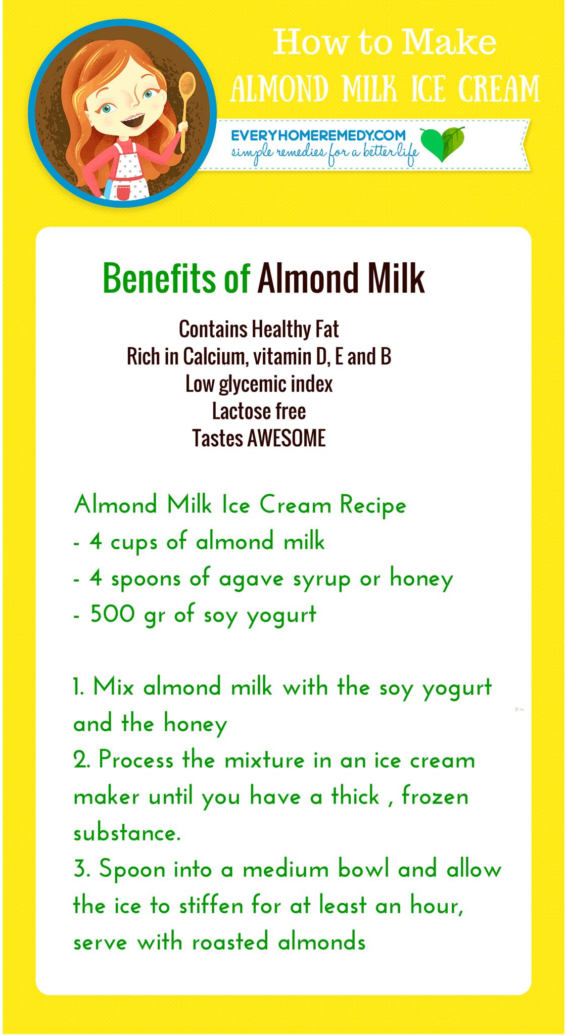 How to make almond milk ice cream