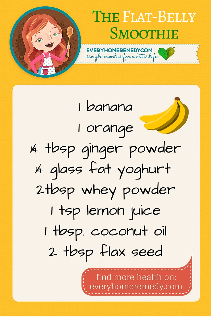 smoothie recipe for flat belly